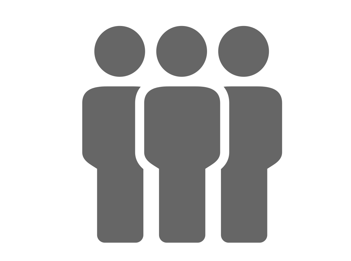Diagram of 3 figures to depict a crowd