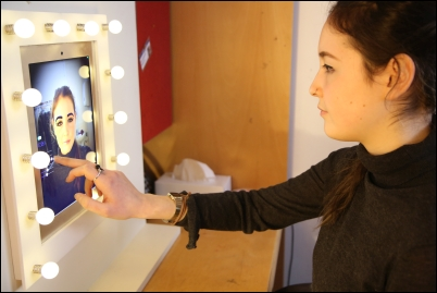 Image showing student interacting with Magicface app